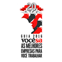 Selo Voce S/A As melhores empresas para voce trabalhar 2016